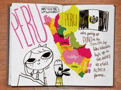 illustrated travel journal.