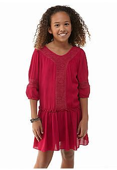 Lucky Brand Fringe Dress Girls 7-16