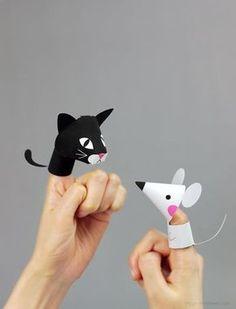 DIY: dedoches de bichinhos para imprimir de graça