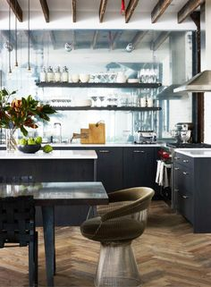 Modern kitchen in a