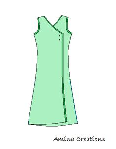 AMINA CREATIONS: HOW TO STITCH A KURTI WITH OVERLAPPING