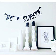 SUMMER #wordbanner #banner #alittlelovelycompany by @sara_mertens  #diywordbanner