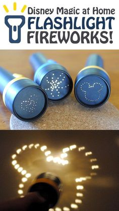 Disney Magic at Home: Flashlight Fireworks
