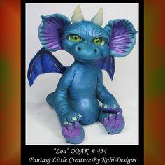 https://flic.kr/p/i9dXbE | Polymer Clay Little Dragon