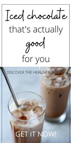 On a hot summer's day an iced chocolate can certainly hit's the spot. Anti Oxidant Foods, Anti Inflammatory Recipes, Ice Chocolate Drink, Cacao Benefits, Recipe From Scratch, Alkaline Foods, Mediterranean Recipes, Healthy Drinks, Great Recipes