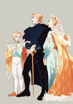 """saltroclus: """"Give me all the Auguste AND Hennike Lives AU. I want to see Little Laurent and his family welcoming Akielon dignitaries after the peace treaty (and the death of Aleron). """""""