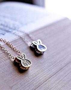 Bunny Sterling Silver OR Gold Filled Necklace by MakiYDesign, $33.00