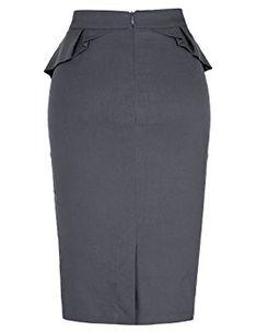 PrettyWorld Vintage Dress Grace Karin Slim Vintage Pencil Skirts For Women, Grey-plus Size, 1X at Amazon Women's Clothing store: African Dresses For Women, African Print Dresses, African Print Fashion, African Fashion Dresses, Pencil Skirt Outfits, Pencil Skirts, Classy Dress, Classy Outfits, Skirt Fashion