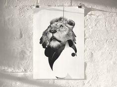 PRINTS — ANIMAL SERIES Von #von #illustrazione #animali #arte #china #leone