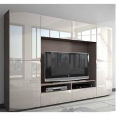 You'll love the Brenda Entertainment Unit at Wayfa Tv Wall Design, Tv Unit Design, Bed Design, Home Design, Living Room Wall Units, Home Living Room, Living Room Designs, Living Room Decor, Wardrobe Design Bedroom