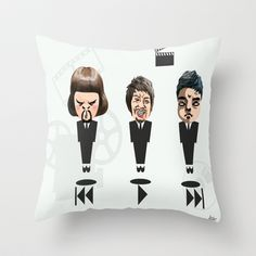 Showtime by André Pillay.  Art on pillows available on Society6 .  #society6  #showtime #pillows #movies