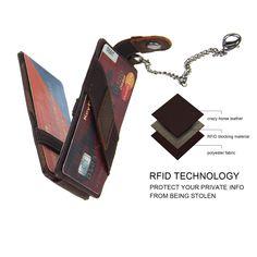 RFID Blocking Genuine Leather Passport Case Cover Holder Travel Wallet Silhouette Of Pine Bear