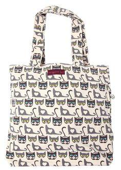 Bungalow 360 Womens Canvas Messenger Tote Bag Seahorse Eco Friendly Vegan New
