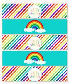 Rainbow Party PRINTABLE Drink Labels by Love The Day by lovetheday, $10.00