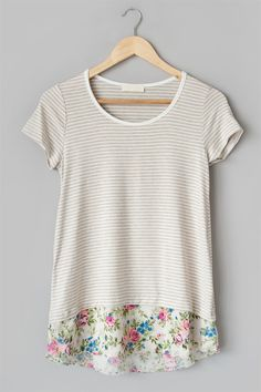 This top is sure to be a favorite for summer!  It is so comfy and the fit is very flattering.