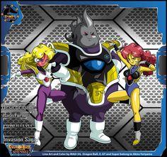 Desa Brigade (Invasion Saga) by on DeviantArt Dbz Characters, Superhero Characters, Dragon Ball Z, Evil Goku, Dbz Drawings, Character Art, Character Design, Marvel Comic Books, Awesome Anime