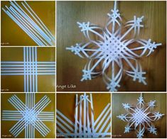 Paper Snowflake Ornament Instructions~ no actual instructions for this gorgeous snowflake but the pic pretty much shows it all. So delicate and pretty!