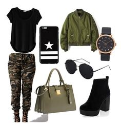 """""""Military outfit for summer!"""" by natalie-bang-hansen on Polyvore featuring Cosabella, New Look, Marc Jacobs, Givenchy and Miu Miu"""