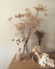 - Dried floral arrangements : home decor - Vintage Cream Aesthetic, Brown Aesthetic, Flower Aesthetic, Dried Flower Arrangements, Dried Flowers, Deco Floral, Aesthetic Wallpapers, Wedding Flowers, Fall Wedding Bouquets