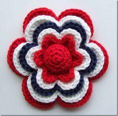 Crochet flower pattern - free English translation included