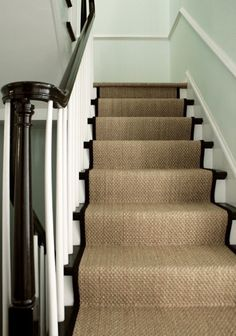 A Bad Fiber For A Stair Runner+ A Difficult Staircase? Sisal Stair  RunnerStaircase RunnerCarpet ...