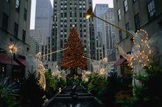 The Rockefeller Center in New York City at Christmas Time.