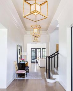 "735 Likes, 15 Comments - Worlds Away (@worldsaway1) on Instagram: ""Make a stunning first impression with our Maxwell Gold Pendants in your entryway! …"""