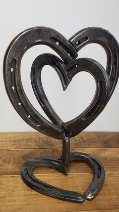 Horseshoe Heart Centerpiece Rustic Wedding by RusticandCountry