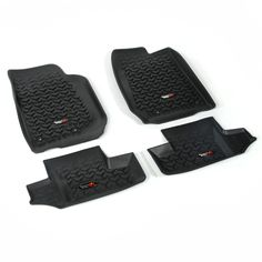 Floor Liners, Kit, Black, 2-Door; 07-16 Jeep Wrangler JK