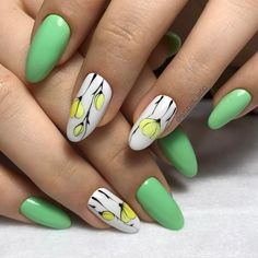 Pin od asia s. na manicure w 2019 ongles, ongles fleurs i ongles vernis. Funky Nail Art, Funky Nails, Cute Nails, Pretty Nails, Colorful Nail, Simple Nail Designs, Nail Art Designs, Hair And Nails, My Nails