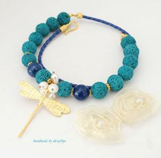 * dragonfly Beaded Necklace, Jewelry, Fashion, Beaded Collar, Moda, Jewlery, Pearl Necklace, Jewerly, Fashion Styles