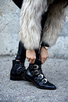 Rock 'n' Roll Style ✯ Givenchy Embellished Leather Boots | Not Your Standard | Winter Coat | Winter Outfits | Fall Fashion   <3 @benitathediva