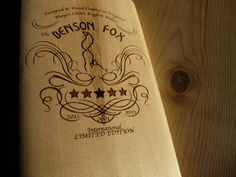 Gorgeous looking English Willow hand made cricket bat from Benson Fox Willow Hand, Cricket Bat, Deathly Hallows Tattoo, Spikes, Cherries, Fox, Label, English, Handmade