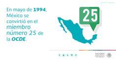 En Mayo de 1994, México se convirtió en el miembro número 25 de la OCDE. SAGARPA SAGARPAMX