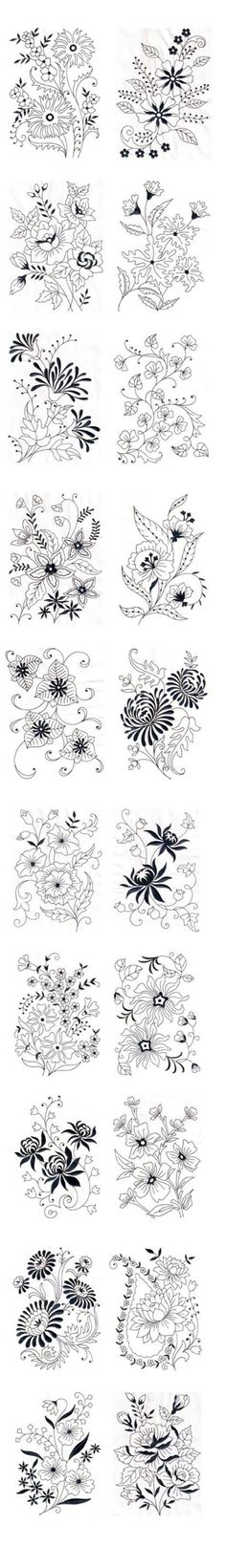 Amazing Emotions - Vintage Florals 01 Machine Embroidery Designs --- Vintage Florals 01 These fabulous vintage floral designs can add supreme beauty to your products like bed linen, bath linen, kitchen linen, curtains and even dresses. You can notice t Vintage Embroidery, Ribbon Embroidery, Cross Stitch Embroidery, Floral Embroidery, Embroidery Tattoo, Machine Embroidery Designs, Embroidery Patterns, Flower Patterns, Dress Patterns