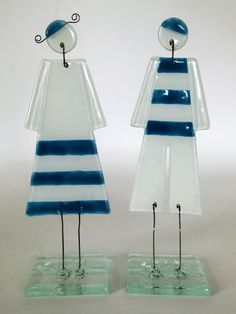 Fused glass Lady&Sailor souvenir