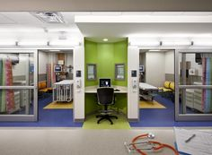 hospital emergency room design Like the cubby for crash carts
