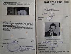 Den 22-årige Peter Andreasens søfartsbog, udstedt i april 1955 af Stubbekøbing Toldsted, som Bogø hørte til fra ca. 1730 til 1971.