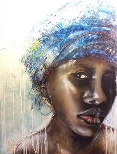 African Style, schilderij van Patrick van Haren | Abstract | Modern | Kunst