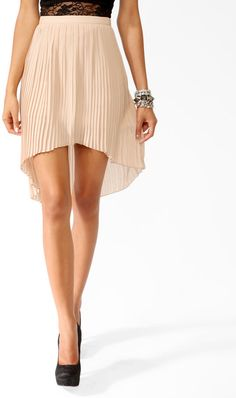 #Forever21                #Skirt                    #Accordion #Pleated #High-Low #Skirt                Accordion Pleated High-Low Skirt                                              http://www.seapai.com/product.aspx?PID=102797