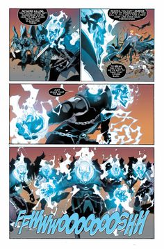 several blue ghost riders Blue Ghost Rider, Ghost Rider Johnny Blaze, Ghost Rider Marvel, Marvel Comic Character, Character Art, Comic Book Drawing, Spirit Of Vengeance, Comic Page, Ghost Rider