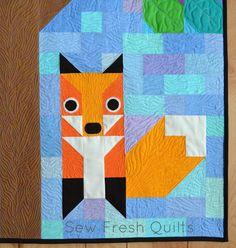 Sew Fresh Quilts: KONA Fox Kits for Spring Quilt Festival 2014