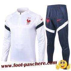 Ensemble Survetement de Foot France Blanc 2020/2021 Replica Pas Cher Mon Cheri, Wetsuit, Sweatpants, Swimwear, Fashion, Chinese, White People, Scuba Wetsuit, Moda