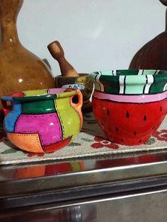 Clay Pots, Boho Decor, Roxy, Painted Rocks, Ideas Para, Bottles, Handmade Gifts, Kitchen, Painting