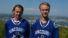 2018 In Vancouver, they are referred to as the twins of Sedin's heirs. Elias Pettersson and Jonathan Dahlén are the Swedish duo who got a whole supporter to start looking bright in the future. Star Wars, Next, Vancouver Canucks, Hockey Players, Ice Hockey, Twins, Bright, Future, Sports