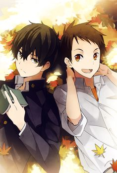 Characters: Houtarou & SatoshiAnime: #Hyouka