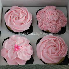 Cupcake flower frosting tutorial.