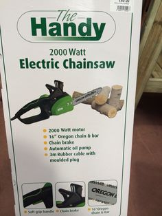Handy electric chainsaws now in!