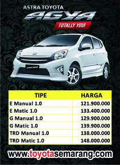 harga toyota agya di semarang demak purwodadi kendal Semarang, Trd, Toyota