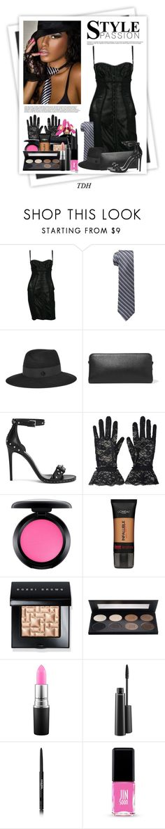 """""""Girl's Night Out"""" by talvadh ❤ liked on Polyvore featuring GALA, Dolce&Gabbana, Calvin Klein, Maison Michel, Maison Margiela, Alexander McQueen, MAC Cosmetics, Marc Jacobs, L'Oréal Paris and Bobbi Brown Cosmetics"""